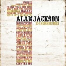 NEW 34 Number Ones by Alan Jackson CD (CD) Free P&H