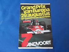 alter Flyer 1976 Grand Prix von Europa Großer Preis der Niederlande Zandvoort F1