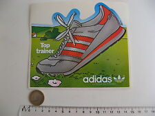 AUTOCOLLANT ADIDAS TOP TRAINER SPORT VINTAGE STICKER RARE id.NIKE CHAUSSURE FOOT