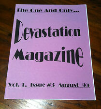 Devastation Magazine #3 1995 Heart Throb Mob Guttersluts VLC Punk Glam Rock *NEW