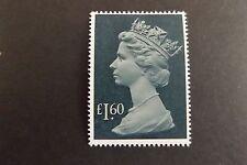 GB QEII SG 1026f £1.60 Drab & Greenish Blue Large Machin Definitive 1987 MNH