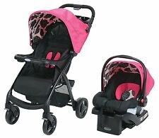 Graco Verb Click Connect Stroller TRAVEL SYSTEM SnugRide INFANT CAR SEAT,Azalea