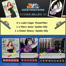 MARVEL DICE MASTERS SPIDER-ALLIES MONTHLY OP KIT -Mary Jane, Gwen Stacy, Luke Ca