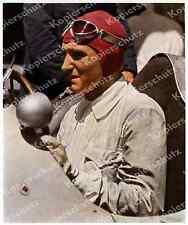 Farbfoto Rennfahrer Brauchitsch Mercedes-Benz Silberpfeile GP Tripolis Auto 1938