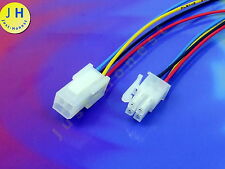 KIT BUCHSE+STECKER 4 polig ATX verdrahtet  Male+Female Connector wired #A1659