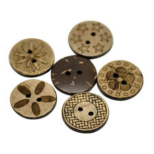 50 Pcs Mixed Coconut Shell 2 Holes Sewing Buttons DIY Scrapbooking 18mm Nobby