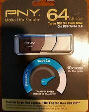 Brand New PNY Turbo 64GB USB 3.0 Flash Drive (P-FD64GTBOP-GE)