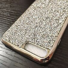 For iPhone 7+ Plus - SILVER CRYSTAL DIAMOND BLING STUDS TPU RUBBER CASE COVER
