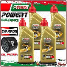KIT TAGLIANDO OLIO CASTROL POWER 1 RACING 5w40 + FILTO CHAMPION BMW S1000RR 2012