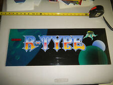 "R TYPE NINTENDO  ORIGINAL 24 - 9"" vintage arcade game sign marquee cF99"