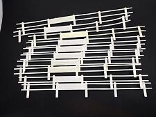 Vintage Strombecker Guard Rails Fence 10 Pc. White 1/32 Slot Car Race Track GUC