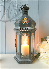Vintage Lantern Candle Holder Moroccan Antique Style French Tea Light Wedding