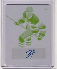 JEREMIAH ADDISON ITG Leaf Metal Rookie Printing Plate Yellow Autograph Auto #1/1