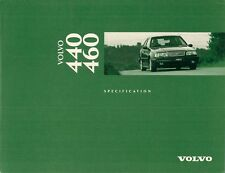 Volvo 440 & 460 1995-96 UK Market Specification Brochure Base S Si SE GLT CD