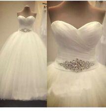 UK New White/Ivory Wedding Dress Bridal Gown Size 6-18