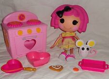 Lalaloopsy Crumb Doll and Oven Set Lot Cookie Party with Mouse