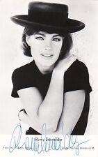 Romy Schneider-original autógrafo mano signed autographed card 70s, rar