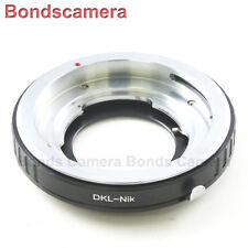 Voigtlander Bessamatic Retina DKL Lens to Nikon F ADAPTER Df D610 D750 D810 D4S