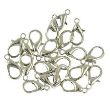 20pcs 18mm Lobster Claw Clasps Jewelry DIY Makings Findings Supplies Silver