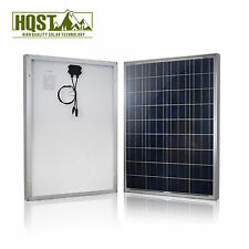HQST 100 Watts 100W Solar Panel 12V Poly Off Grid Battery Charger for RV Boat