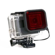 Underwater Diving Housing Case Lens Filter For Gopro Hero 5 Camera Red