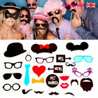 31/44pcs Photo Booth Props Moustache on A Stick Wedding Christmas Birthday Party