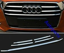 5pcs Chrome Front Grille Strip cover Trim For Audi Q3 2015 2016 2017