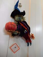 "Department 56 Halloween Hanging Kitchen Witch on Broom - Large 14"" Super Cute!!"