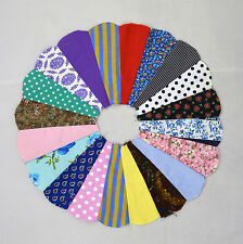 Vintage Lot of 27 Quilt Top Dresden Plate Piece Circle Pin Wheel Pattern Patch