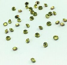 New 200pcs 4mm Olive Crystal beads Point back Rhinestones Resin Chatons !