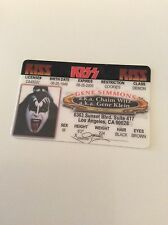 Kiss Gene Simmons Replica Driving License