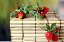 Artificial Strawberry Bunch Branch Decoration Garden Indoor Outdoor Hanging Plas