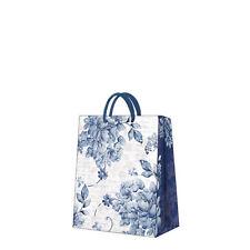 Carta stampata Regalo Borsa Biancheria Rose Fiori Blu Elegante medio/D