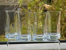 4x BORMIOLI ROCCO Designer HI-BALL Hexagonal CAPITOL Drinking GLASSES Made ITALY