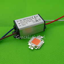 10W full spectrum led grow chip 380nm~840nm + Led driver for MJ plant grow/bloom