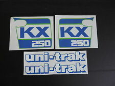 1988 KAWASAKI KX 250 RADIATOR SHROUD AND SWINGARM  DECAL KIT  VINTAGE MOTOCROSS
