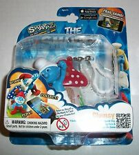 The Smurfs Swaps CLUMSY Figure Clip-For iOS & Android Smurf World Game App! NEW