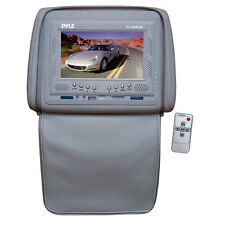 Pyle PL72HRGR Adjustable Headrests w/ Built-In 7'' TFT/LCD Monitor; Gray