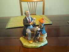 """Doctor and the Doll"" - Norman Rockwell  ceramic figurine - 1980"