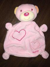 Baby Fehn C&A Schmusetuch Kuscheltuch Schnuffeltuch Teddybär Rosa Herzen Bear
