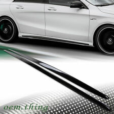 LA STOCK Carbon Mercedes Benz W117 CLA250 CLA220 Sport Side Skirts Cover BodyKit