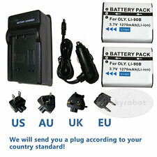 2pk LI-90B Battery and Charger For Olympus SH-1 SH-50 iHS SH-60 Tough TG-4