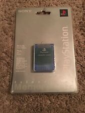 ORIGINAL SONY PLAYSTATION 1 PS1 1MB MEMORY CARD ISLAND BLUE SEALED BRAND, NEW
