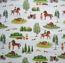 Country Store Americana Characters Animals Windham Cotton Quilting Fabric Yard