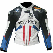 Mens Multicolor BMW Motorcycle Racing Biker Leather Jacket XS-6XL Size Available