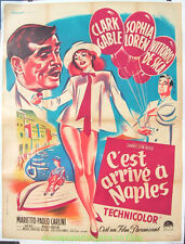 IT STARTED IN NAPLES MOVIE POSTER Original 47x63 Grande Size FRENCH  GABLE LOREN