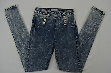 Crave Fame by Almost Famous Jr Womens Acid Washed High waist Skinny Jeans size 3