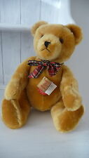 HERMANN Originale Vintage Oro Mohair 40 cm da collezione Growler Teddy Bear