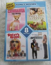 FAMILY MOVIES 8 DVD PACK~ GRAB THE POPCORN, IT'S FAMILY NIGHT!