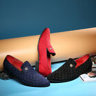 2016 Men Pointed Formal Slip on Shoes with Rivet Loafers Wedding Casual Shoes